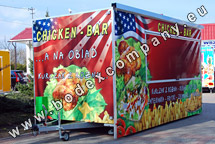 Producer of trailers for sell BBQ chicken